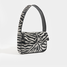 Load image into Gallery viewer, STAUD Tommy Zebra Beaded Shoulder Bag