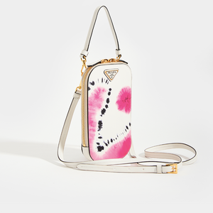 PRADA SSENSE Exclusive White Tie-Dye Mini Bag