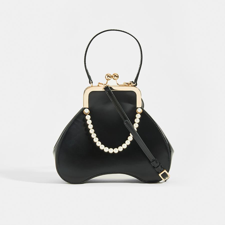 SIMONE ROCHA Baby Bean Faux Pearl Embellished Tote - front view
