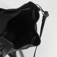 Load image into Gallery viewer, THE ROW Round Drawstring Leather Crossbody in Black