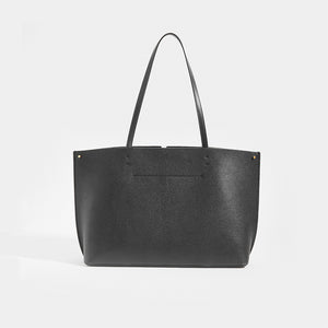 Rear of VALENTINO Garavani Fill Me Tote in Black Leather