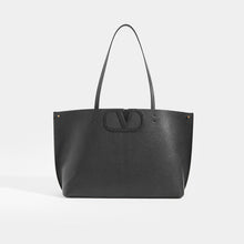 Load image into Gallery viewer, Front View of VALENTINO Garavani Fill Me Tote in Black Leather