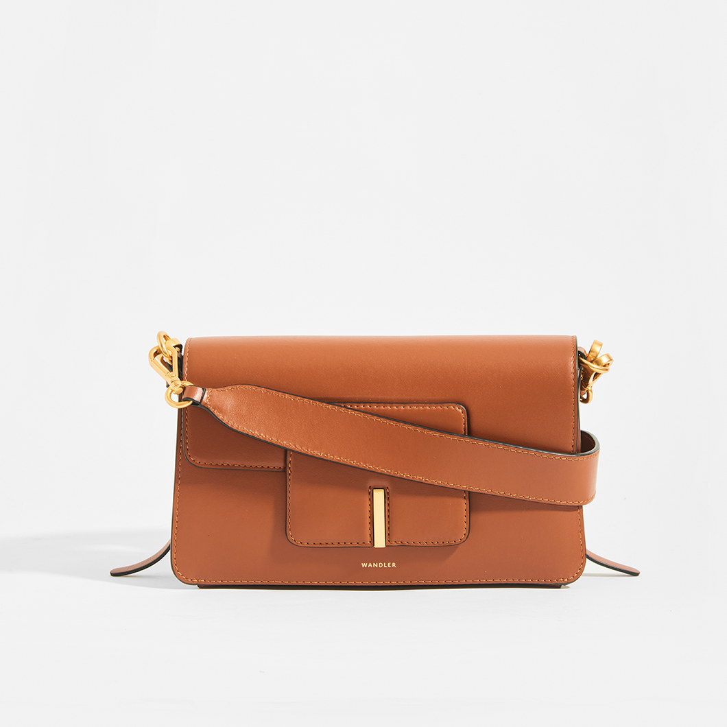 WANDLER Georgia Bag in Tan Leather