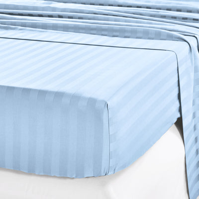 Silky Soft Sateen Striped Fitted Sheet  Image