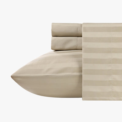 Silky Soft Sateen Striped Sheet Set  Image