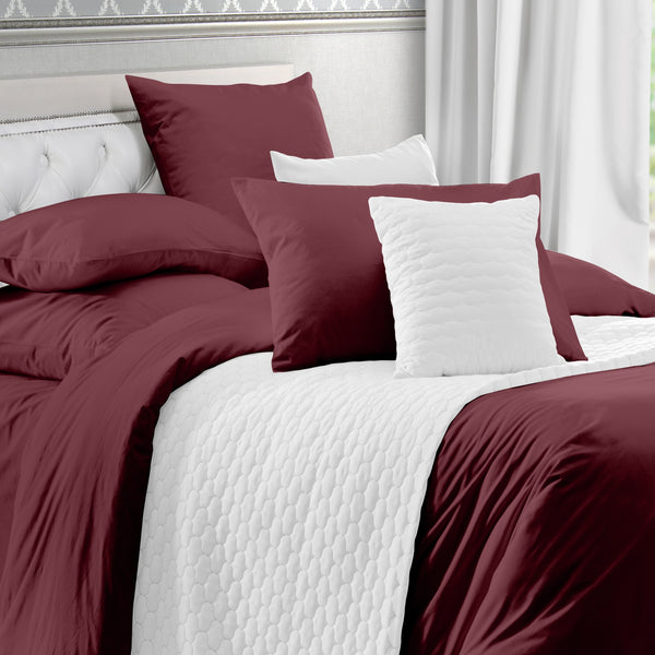 Everyday Comfort - 400 Thread Count - 100% Cotton Sateen Duvet Cover Set