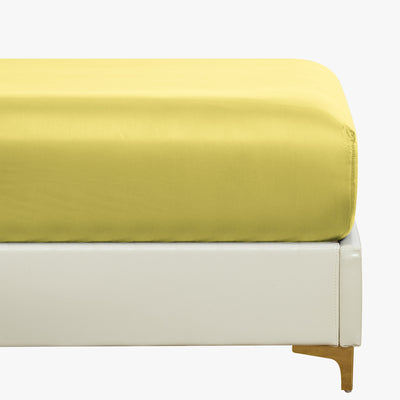 Everyday Soft Sateen Solid Fitted Sheet  Image