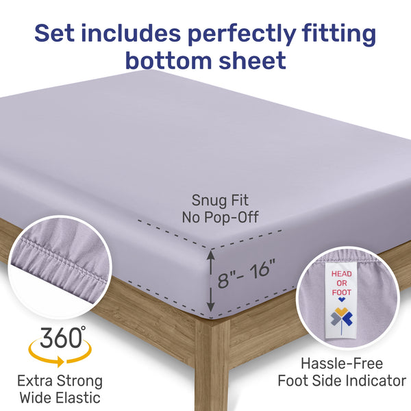 Performance Blend Superior- 700 Thread Count - Cotton / Poly Sateen Sheet Set