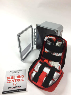 This bleeding control station is designed for job trailers, construction sites, general industry, churches, schools and businesses.