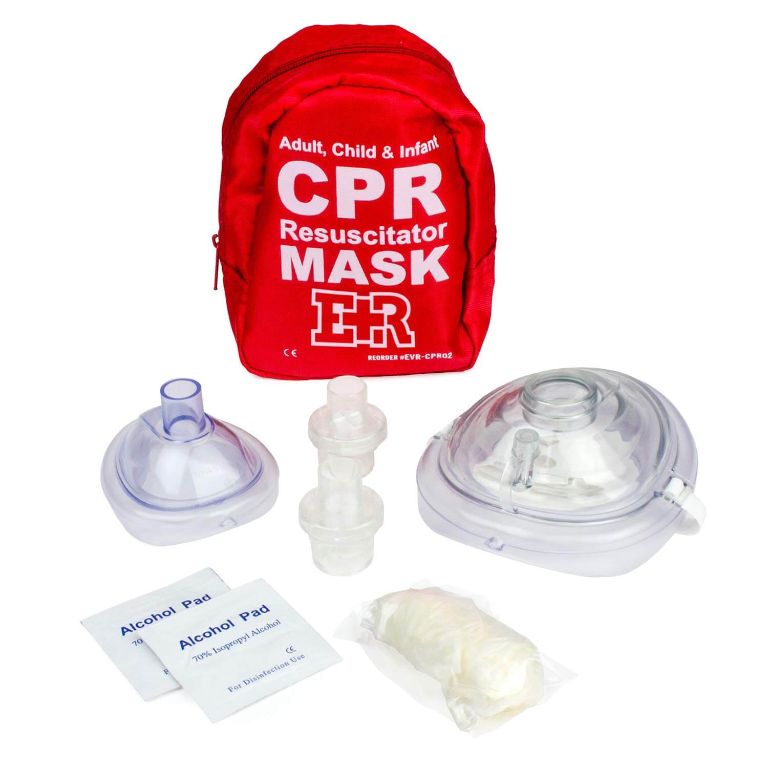 Adult, child and Infant CPR Resuscitation Mask