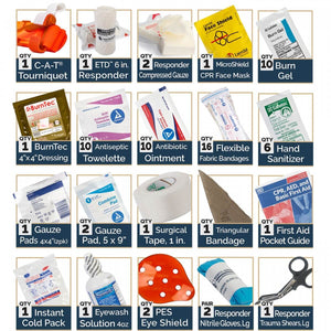 OSHA/ANSI approved first aid supplies
