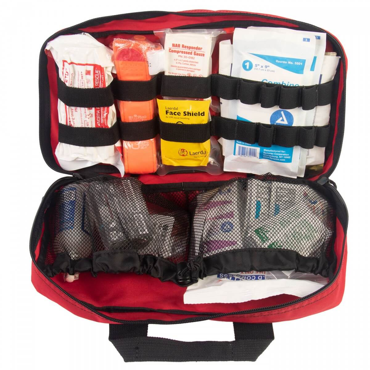 Most First aid kits do not carry tourniquets or other bleeding control equipment, but ours does.