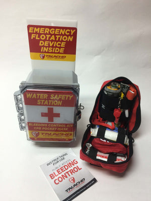 Water Safety Station combines life saving products for recreational water use.