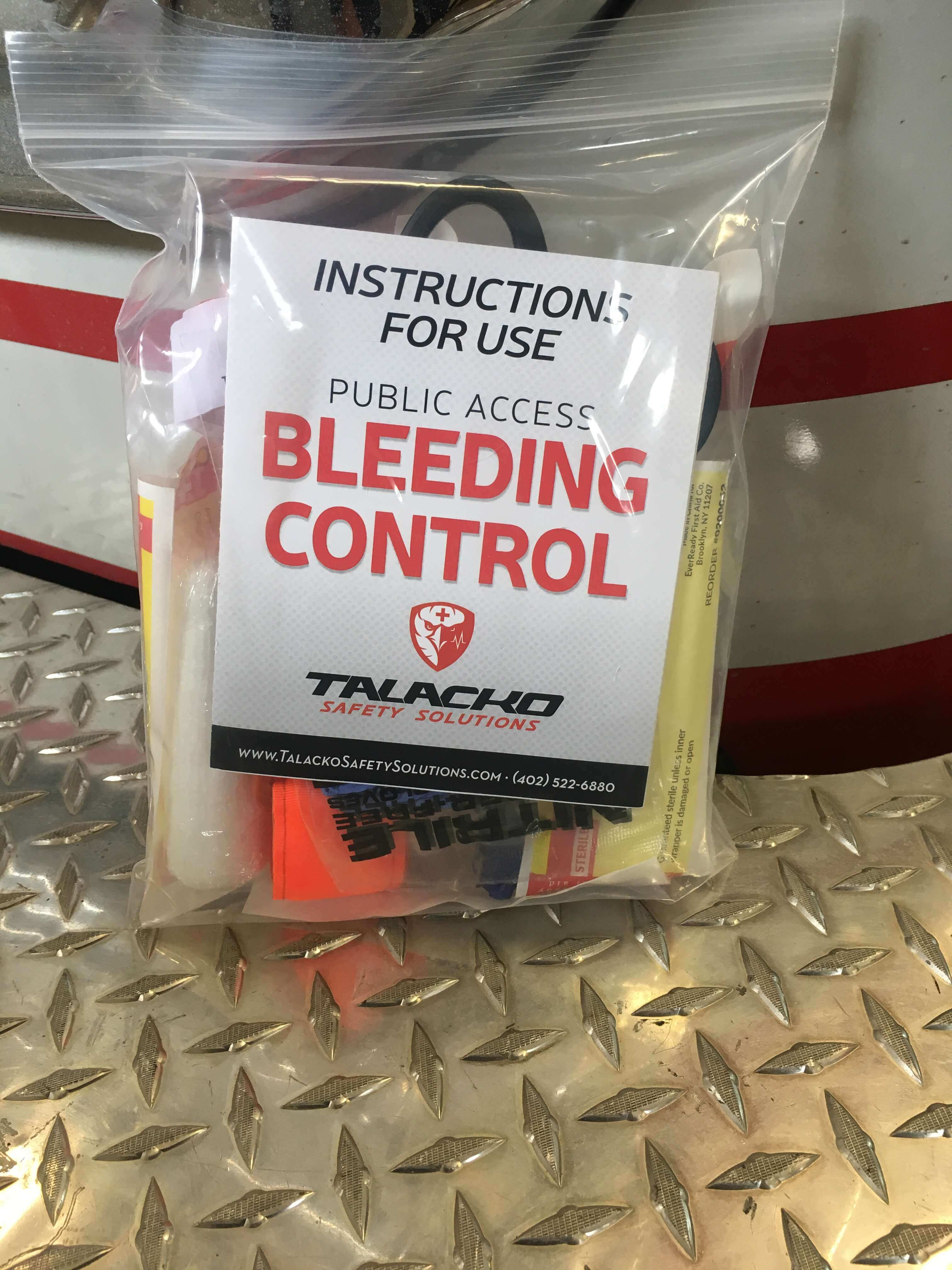 Basic Bleeding Control Kit in commercial zip-lock