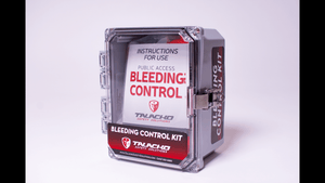 leeding Control enclosure, will hold two commercial zip-lock bleeding control kits or one in a nylon tactical molle.