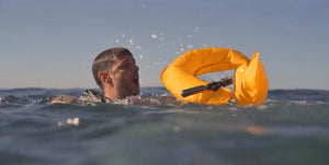 Talacko Safety Solutions flotation device inflates on contact with water and can help anyone up to 330 lbs.