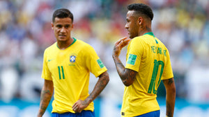 Neymar and Philippe Coutinho at the 2018 World Cup