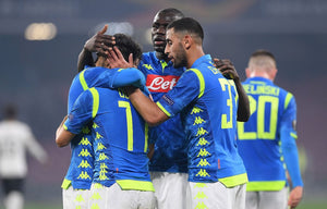 napoli players celebrate after beating FC Zurich in the UEFA Europa League 2019