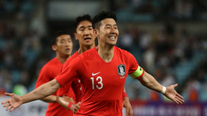 Heung Min Son celebrates for South Korea in the 2019 AFC Asian Cup