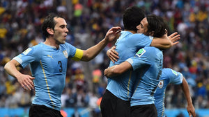 Uruguay celebrate at the 2018 World Cup