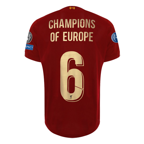 Liverpool 2019/20 UCL Champions Home Kit