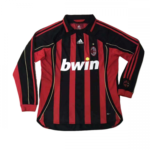 AC Milan 2006/07 Retro Home Kit Long Sleeve