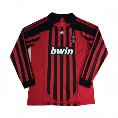 AC Milan 2007/08 Retro Home Kit Long Sleeve