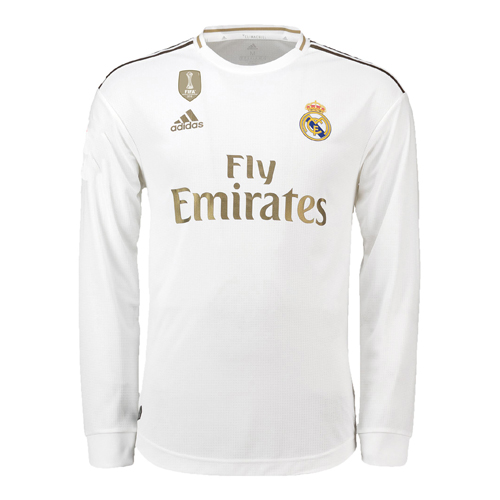 Real Madrid 2019/20 Home Kit Long Sleeve