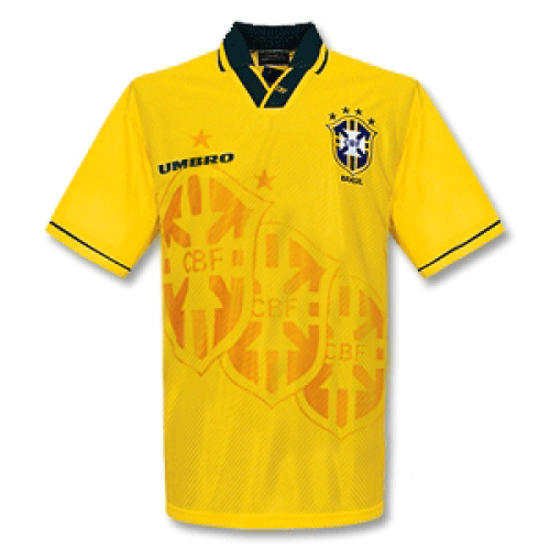 Brazil 1993/94 Retro Home Kit - JerseyClub.net