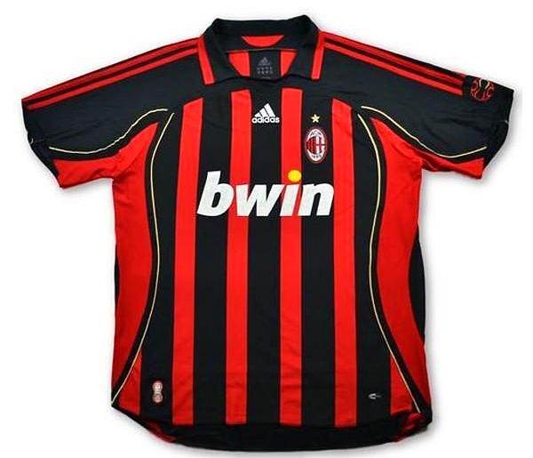 AC Milan 2006/07 Retro Home Kit - JerseyClub.net