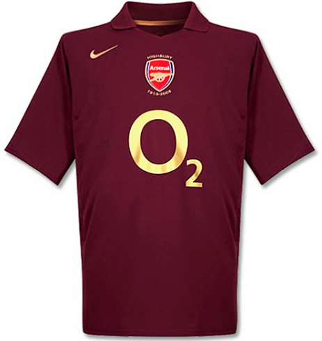 Arsenal 2005/06 Retro Home Kit - JerseyClub.net