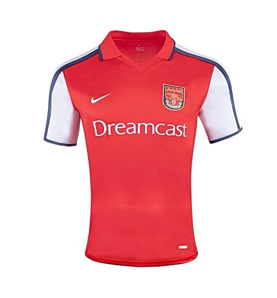 Arsenal 2000/01 Retro Home Kit - JerseyClub.net