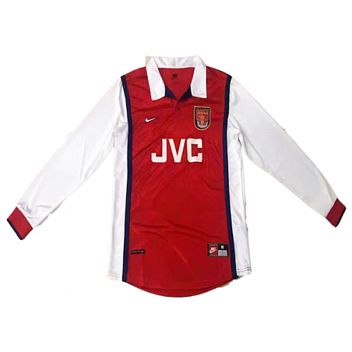 Arsenal 1998/99 Retro Home Kit Long Sleeve - JerseyClub.net