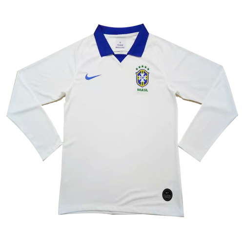 Brazil 2019 Copa America Away Kit Long Sleeve - JerseyClub.net