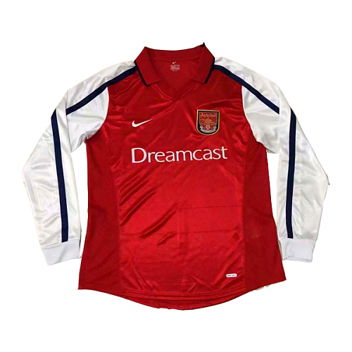 Arsenal 2000/01 Retro Home Kit Long Sleeve - JerseyClub.net