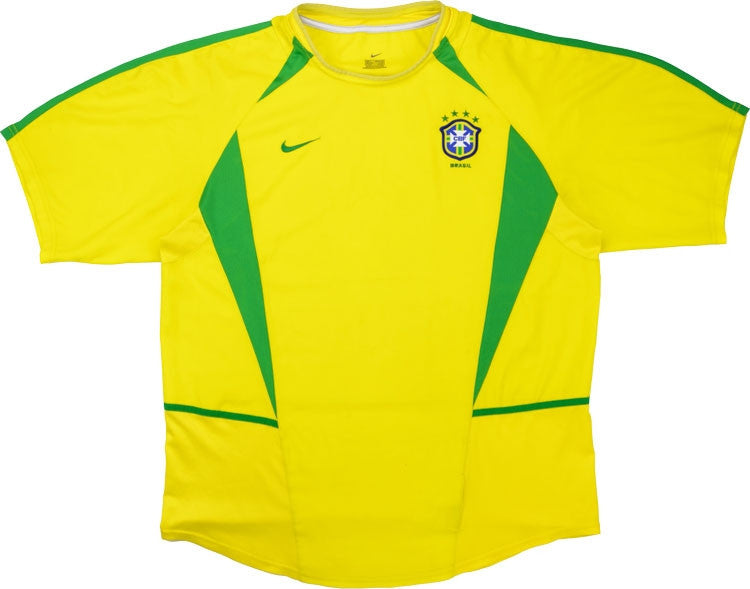 Brazil 2002 Retro Home Kit - JerseyClub.net