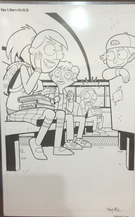 Mainstream Museum of Comics & Comic Art - Rick & Morty Comic Page by Troy Little- Original Art
