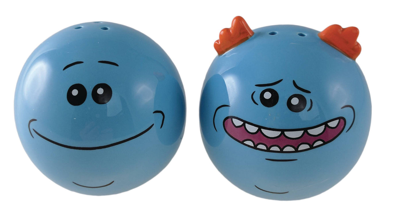 RICK AND MORTY MR MEESEEKS SALT AND PEPPER SHAKERS (C: 1-1-2