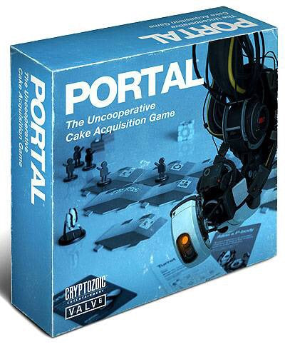 PORTAL THE UNCOOPERATIVE CAKE AQUISITION BOARD GAME (C: 0-1-