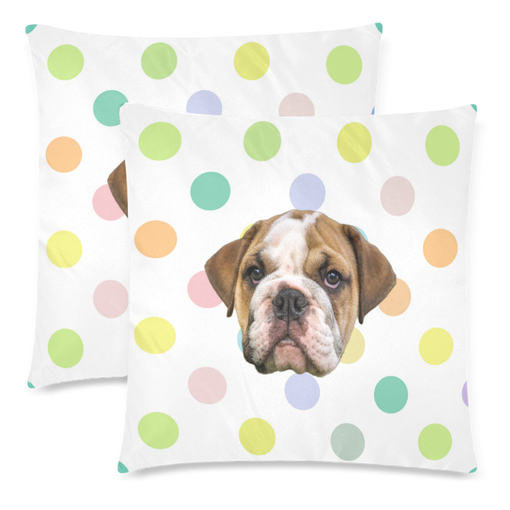 Polka Dot Rainbow Pillow Covers