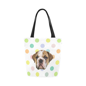 Polka Dot Rainbow Tote Bag