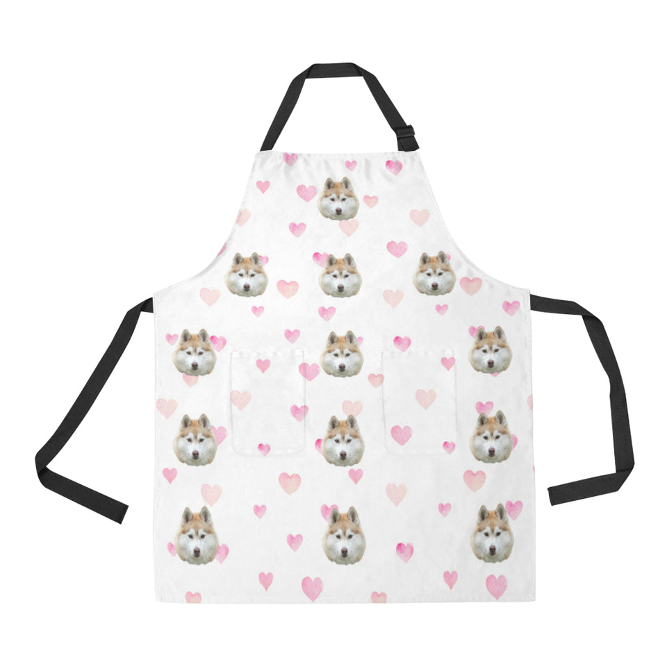 Watercolour Hearts Cooking Apron