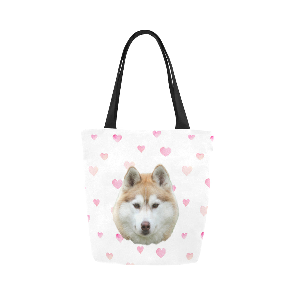 Watercolour Hearts Tote Bag