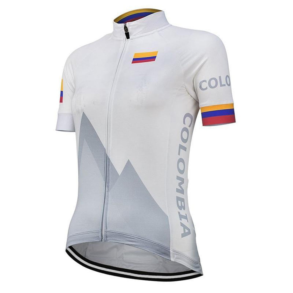 Team Columbia White Men/'s Cycling Jersey