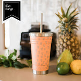 MONTIICO ORIGINAL SMOOTHIE CUP - PEACHY HEARTS PRINT