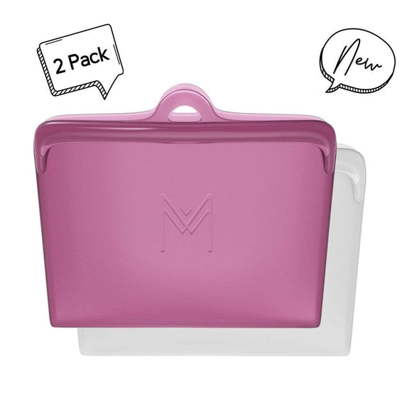 Montii Pack & Snack Bags - 2pk ROSE
