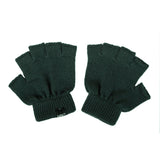 Double Trouble Knitted Fingerless Merino Gloves - Pick Color And Size