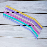 MontiiCo - Reusable silicone straws 6 pack