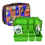 Go Green Lunchbox set - Jurassic Party - Blue