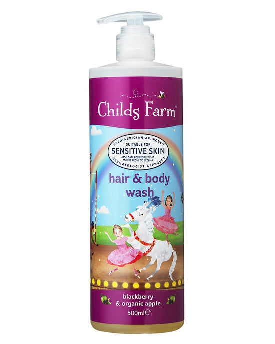 CHILDS FARM HAIR & BODY WASH BLACKBERRY & ORGANIC APPLE